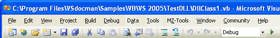 New VS 2005 title bar with full file path